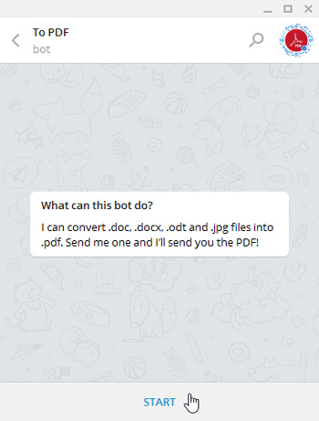 PDF با استفاده از تلگرام, ترفندهای اینترنتی, فرمت PDF, تبدیل فایل به pdf, نرم افزار تبدیل فایل به pdf, تبدیل فایل به pdf